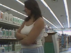 Real slutty girls in the supermarket